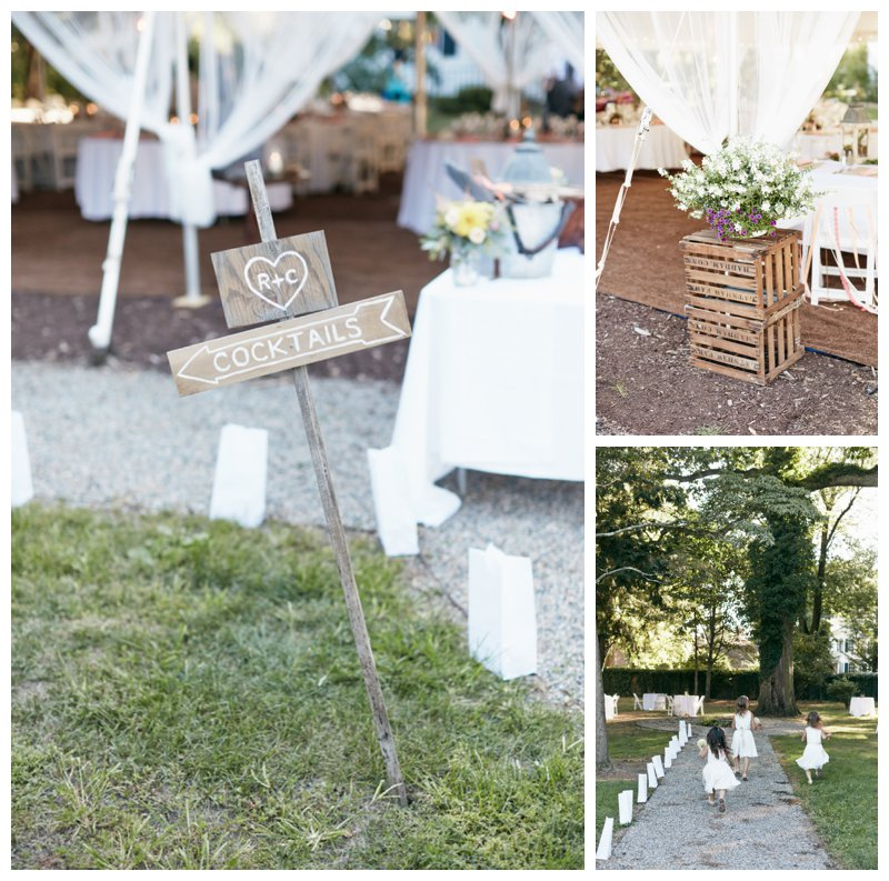 Hand painted wedding signs, vintage crates, rustic wedding decor